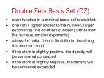 double zeta basis set dz