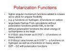 polarization functions