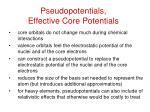pseudopotentials effective core potentials