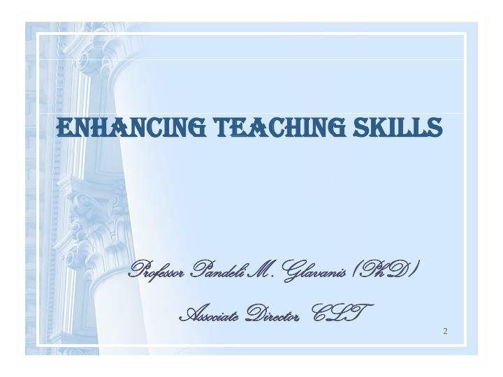 ENHANCING TEACHING SKILLS