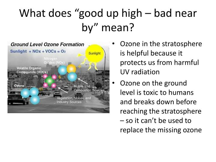 """What does """"good up high – bad near by"""" mean?"""
