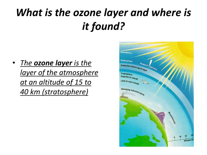 What is the ozone layer and where is it found