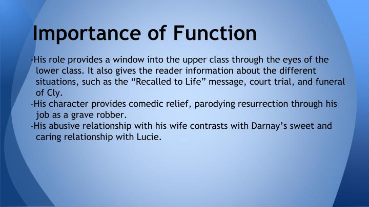 Importance of Function