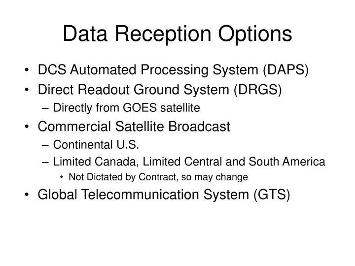 Data Reception Options