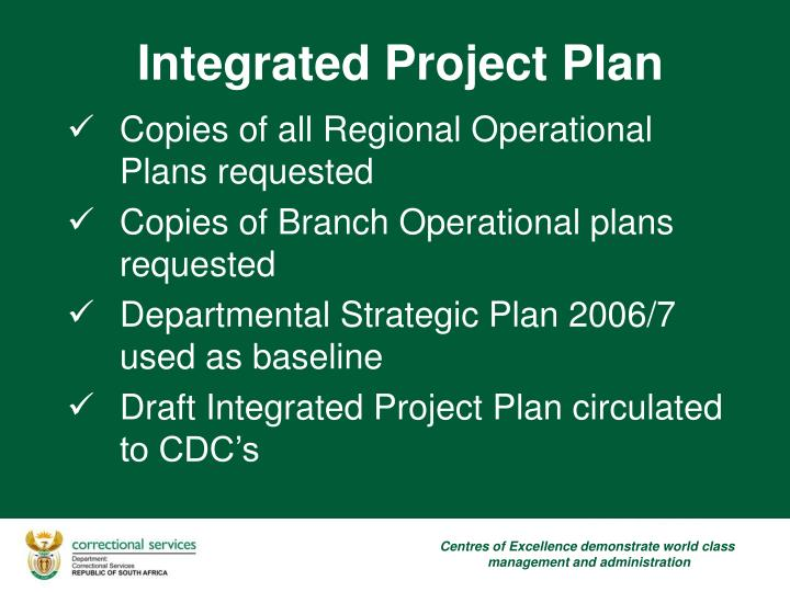 Copies of all Regional Operational Plans requested