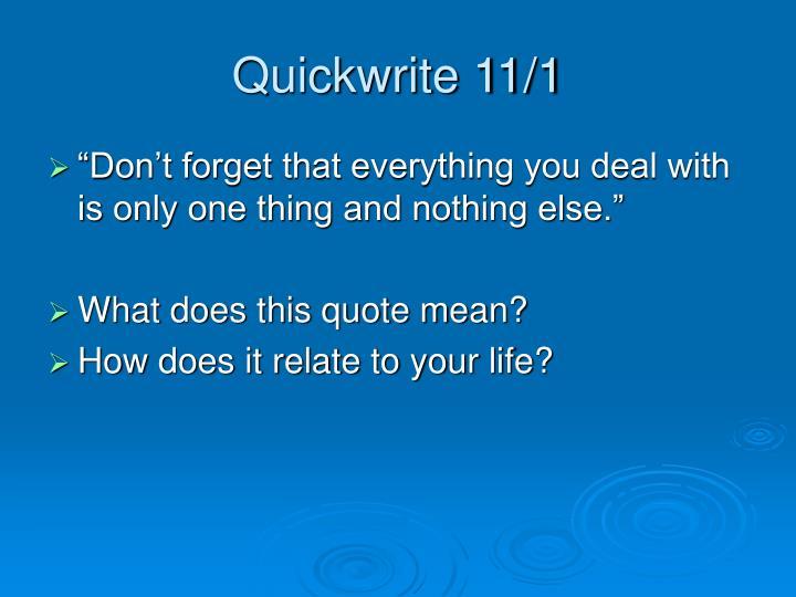 Quickwrite 11/1