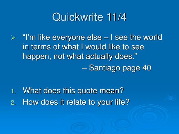 Quickwrite 11/4