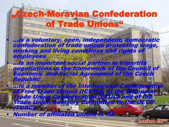 Czech moravian confederation of trade unions