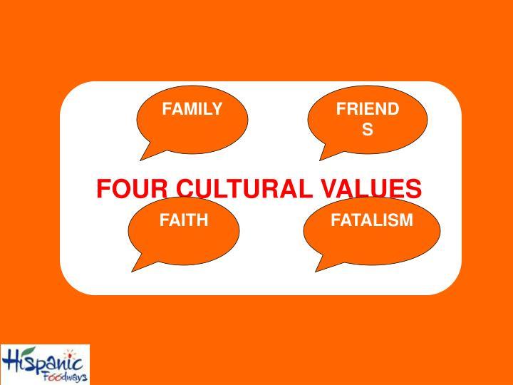 FOUR CULTURAL VALUES