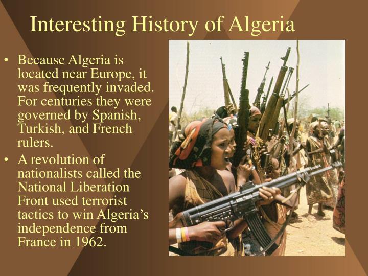 Interesting history of algeria