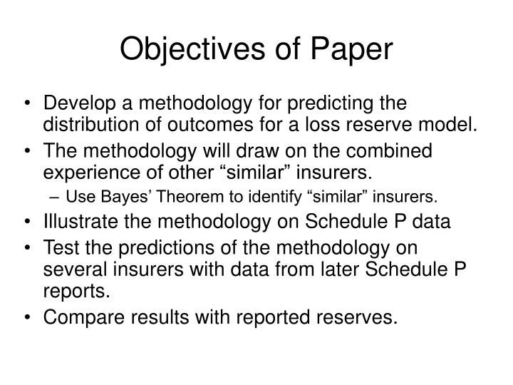 Objectives of Paper