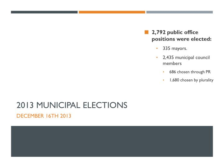 2,792 public office positions were elected: