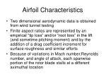 airfoil characteristics1