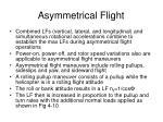 asymmetrical flight