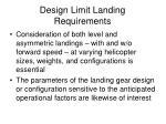 design limit landing requirements