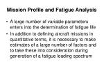 mission profile and fatigue analysis2