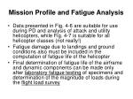mission profile and fatigue analysis6