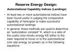 reserve energy design autorotational capability indices landings