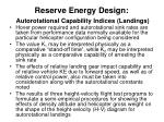 reserve energy design autorotational capability indices landings2