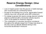 reserve energy design other considerations1