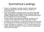 symmetrical landings1