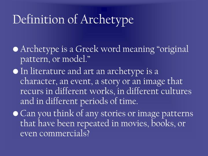 Definition of archetype