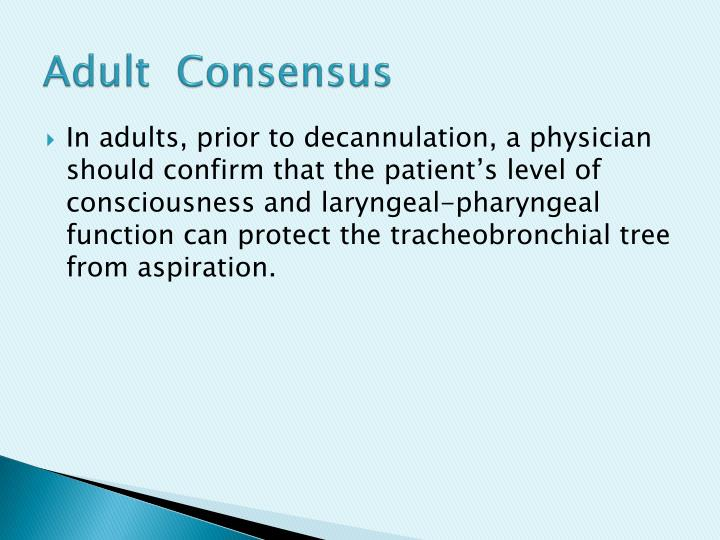 Adult  Consensus