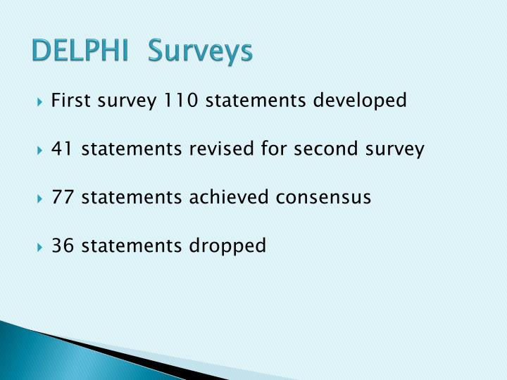 DELPHI  Surveys