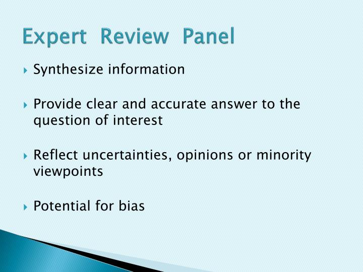 Expert  Review  Panel