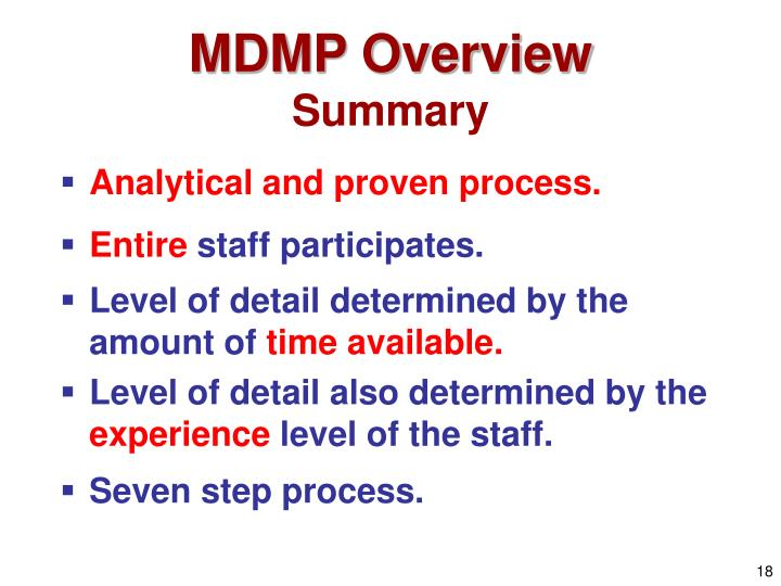 mdmp process