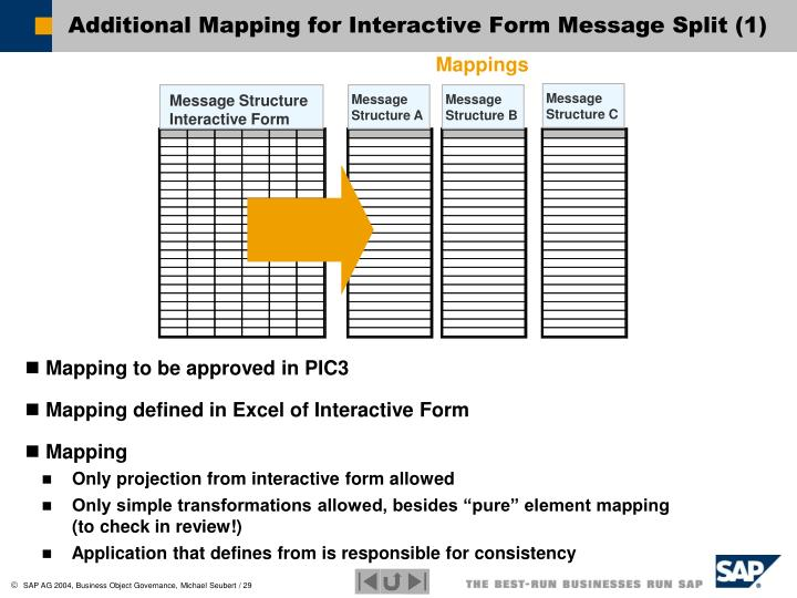 Additional Mapping for Interactive Form Message Split (1)
