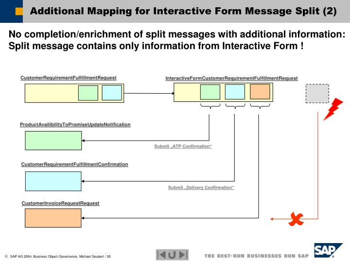 Additional Mapping for Interactive Form Message Split (2)
