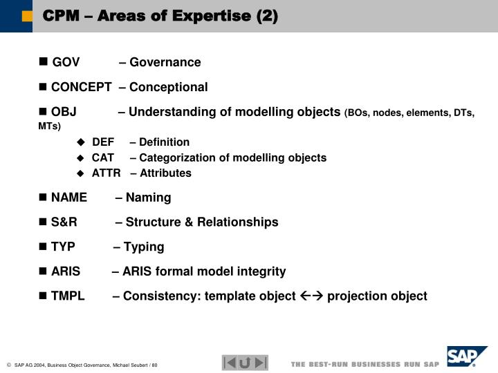 CPM – Areas of Expertise (2)