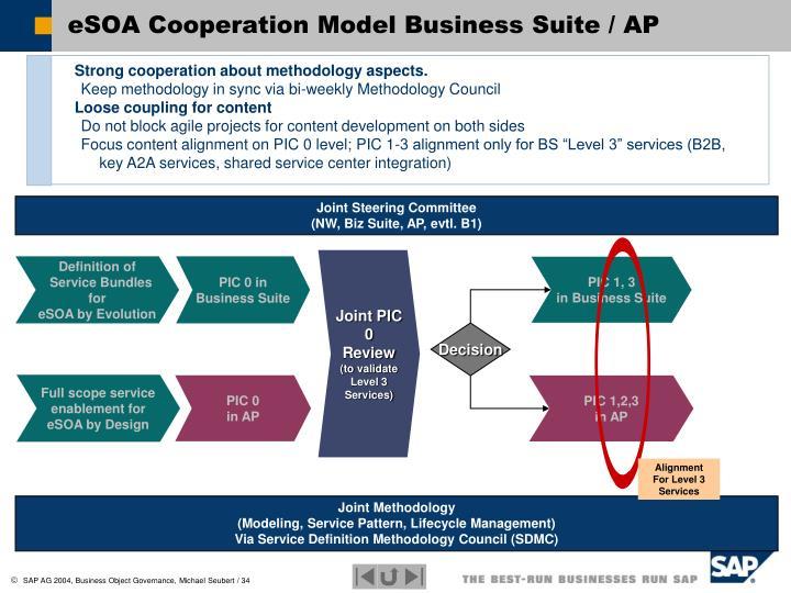 eSOA Cooperation Model Business Suite / AP
