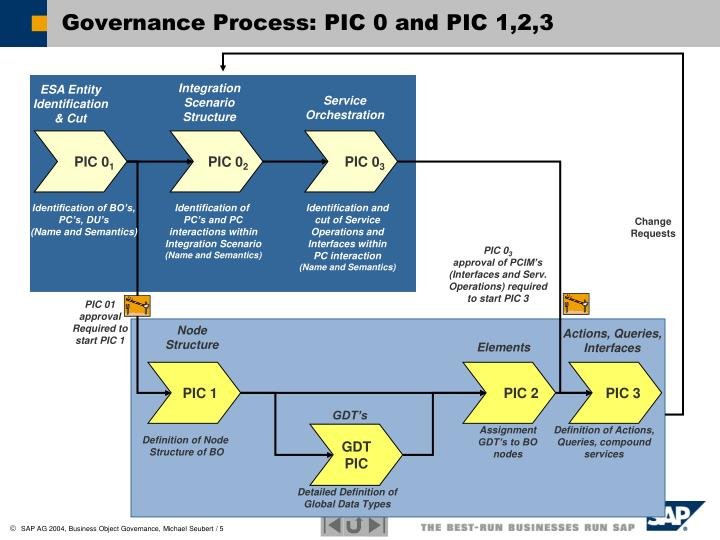 Governance Process: PIC 0 and PIC 1,2,3