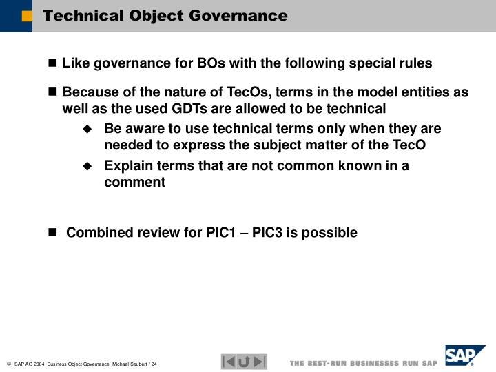 Technical Object Governance