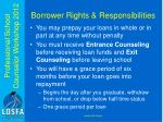 borrower rights responsibilities