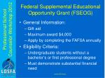 federal supplemental educational opportunity grant fseog
