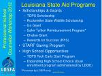 louisiana state aid programs