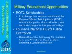 military educational opportunities1
