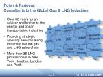 poten partners consultants to the global gas lng industries