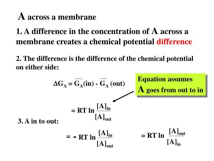 Equation assumes