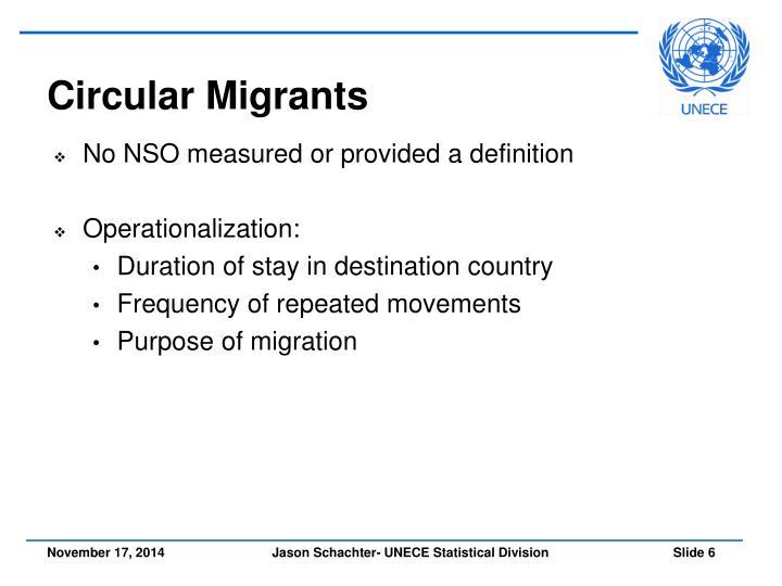 Circular Migrants