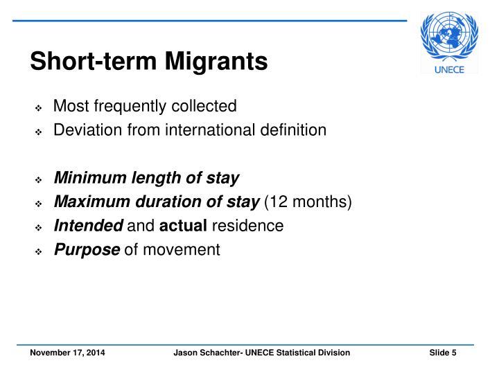 Short-term Migrants