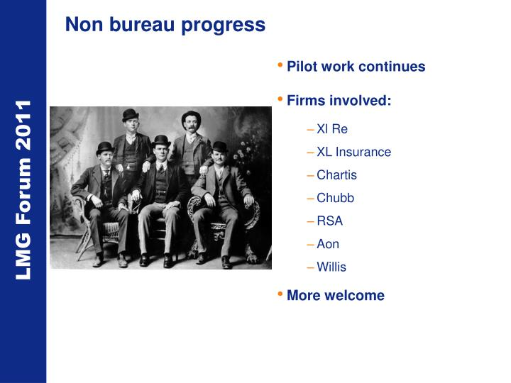 Non bureau progress