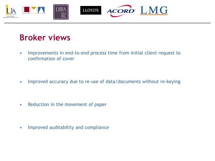 Broker views