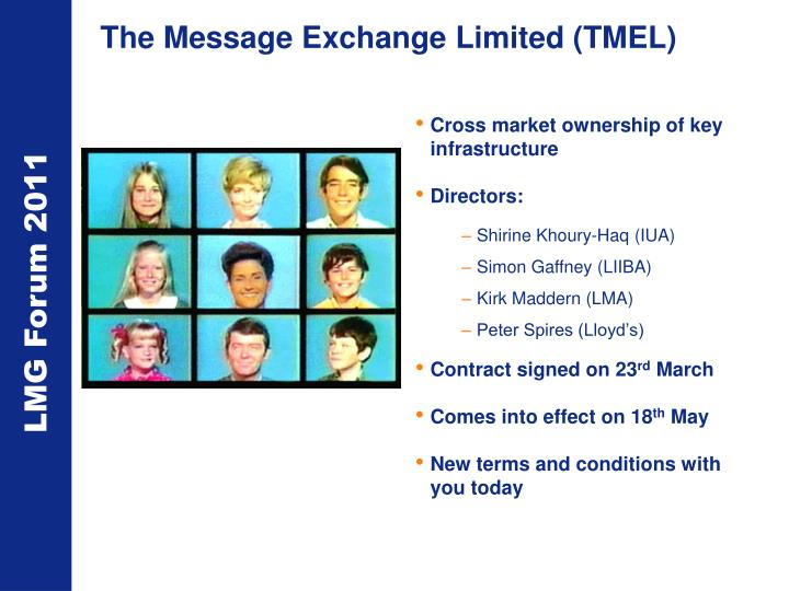 The Message Exchange Limited (TMEL)