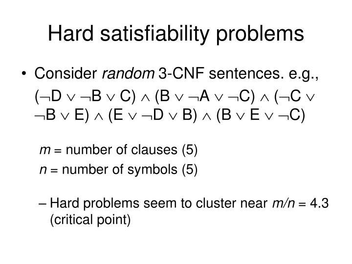 Hard satisfiability problems