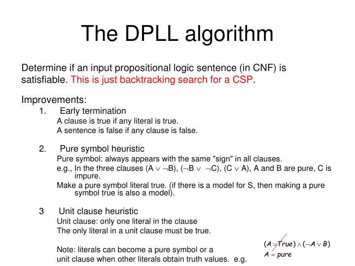 The DPLL algorithm