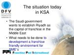 the situation today in ksa